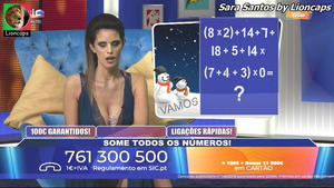 Sara Santos sensual no concurso Vamos Jogar
