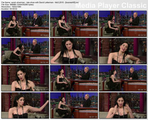 "SARAH SILVERMAN - ""Letterman"" (February 3, 2010) - *interview, cleavage, striped nylons*"
